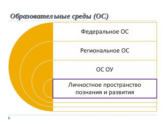 Образовательные среды (ОС)