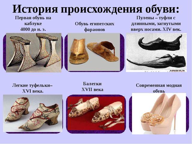История происхождения обуви: Обувь египетских фараонов Пулены – туфли с длинн...