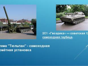 """Система """"Тюльпан"""" - самоходная миномётная установка 2С1 «Гвоздика»—советска"""