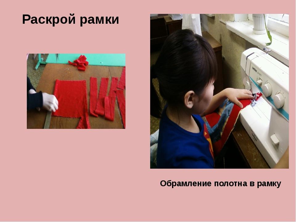 Раскрой рамки Обрамление полотна в рамку