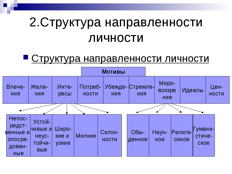 2.Структура направленности личности Структура направленности личности Мотивы...