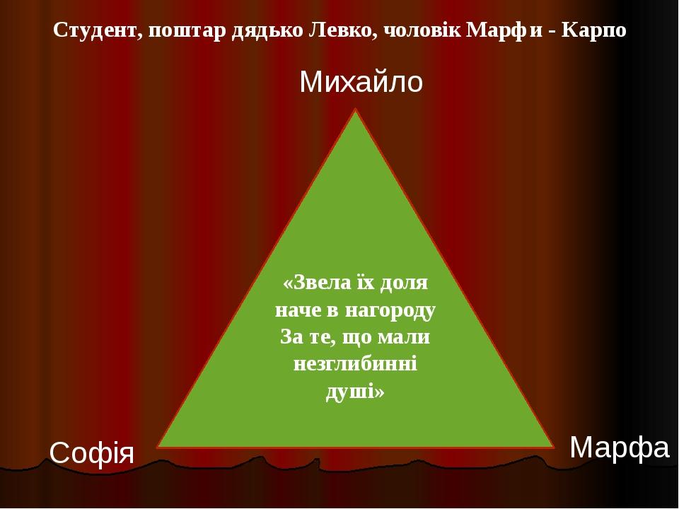«Звела їх доля наче в нагороду За те, що мали незглибинні душі» Михайло Софія...