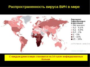 C каждым днем в мире становится на 14 тысяч инфицированных больше Распростран