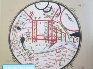 К. XI в. Карта Азии автор Махмуд ал Кашгари