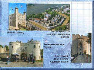Уайт-Тауэр (Белая башня) Вид на крепость с высоты птичьего полёта Западные во