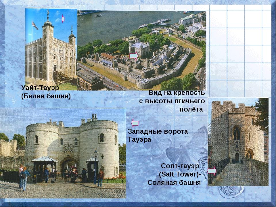 Уайт-Тауэр (Белая башня) Вид на крепость с высоты птичьего полёта Западные во...