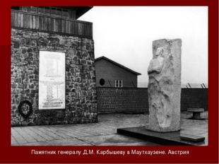 Памятник генералу Д.М. Карбышеву в Маутхаузене. Австрия