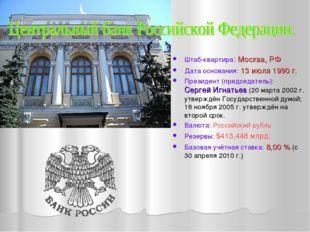 Штаб-квартира: Москва, РФ Дата основания: 13 июля 1990 г. Президент (председа