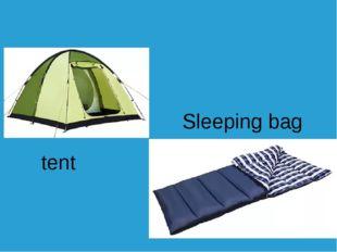 tent Sleeping bag