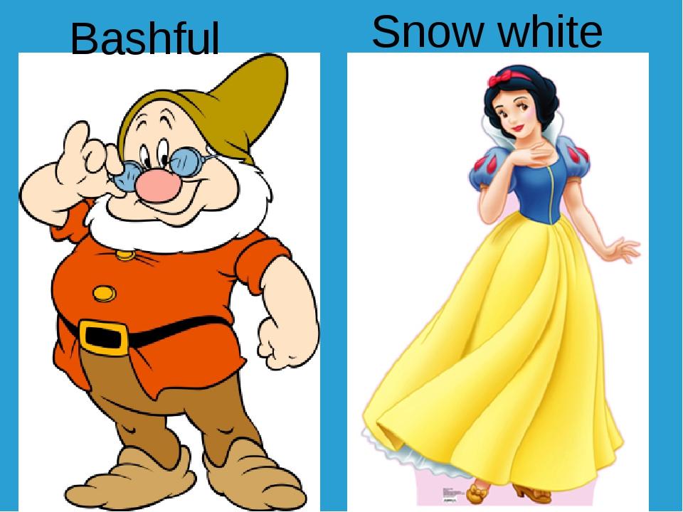 Snow white Bashful