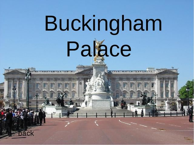 The capital of Great Britain … back