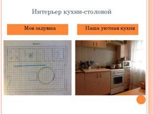 Интерьер кухни-столовой Моя задумка Наша уютная кухня