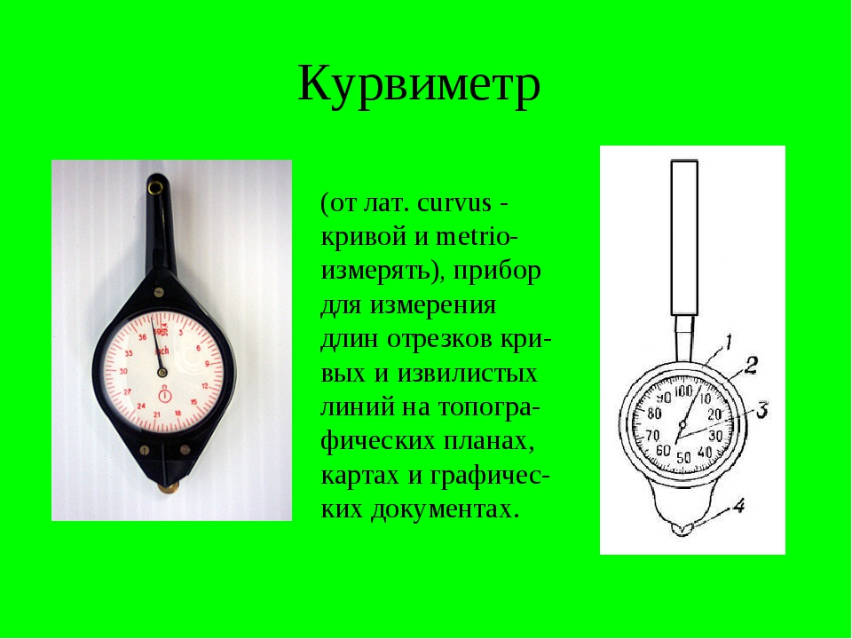 Измерение на карте курвиметром