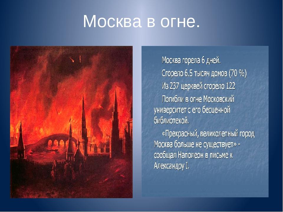 Москва в огне.