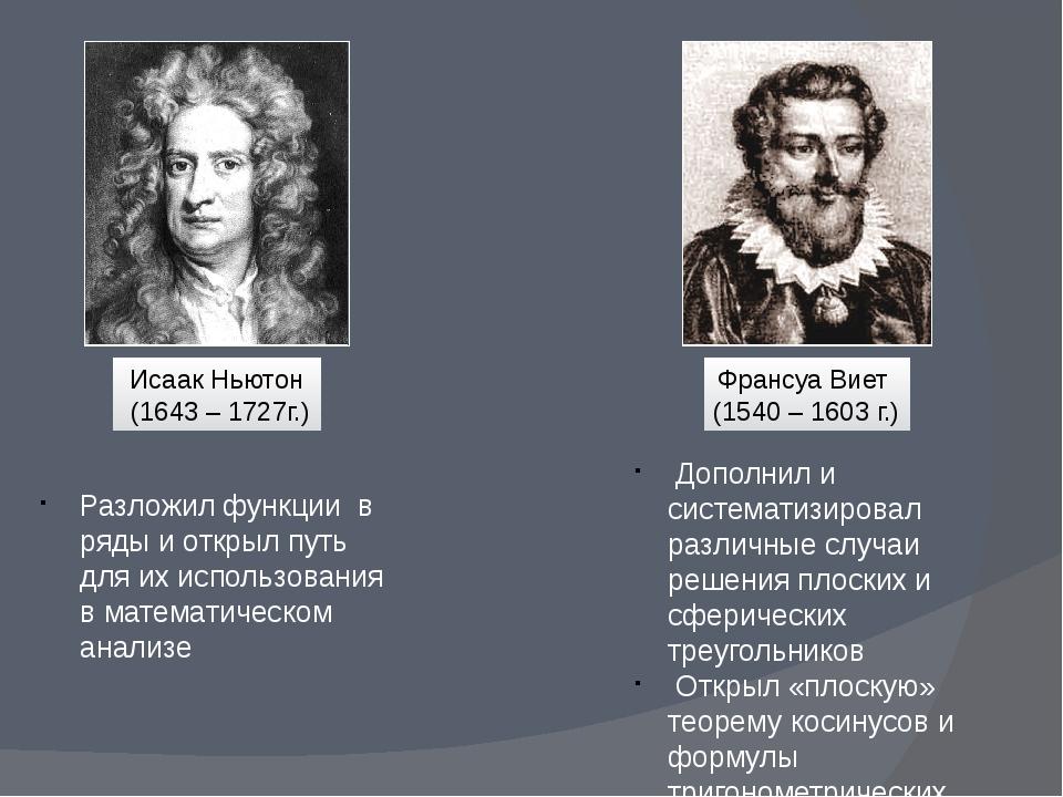 Дополнил и систематизировал различные случаи решения плоских и сферических т...