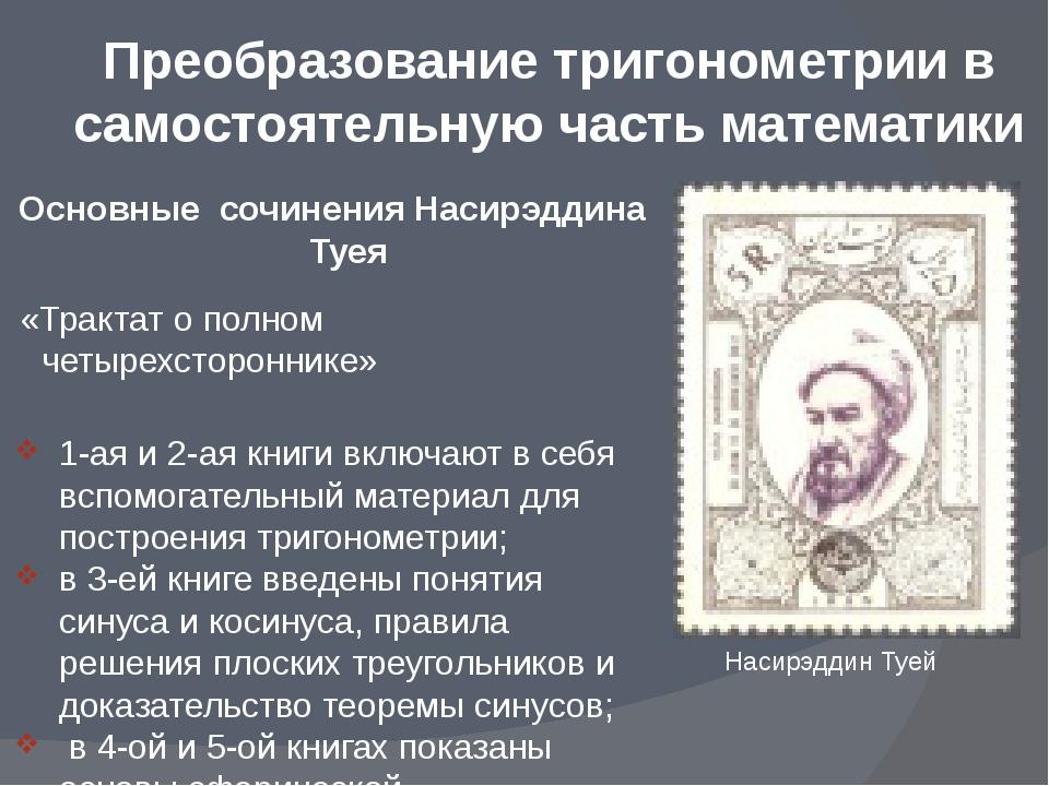 Основные сочинения Насирэддина Туея «Трактат о полном четырехстороннике» 1-а...