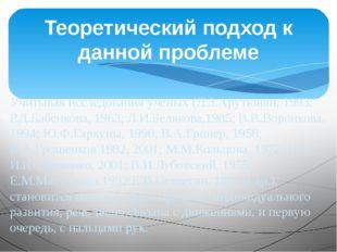Учитывая исследования ученых (Л.З.Арутюнян, 1993; Р.Д.Бабенкова, 1963; Л.И.Бе