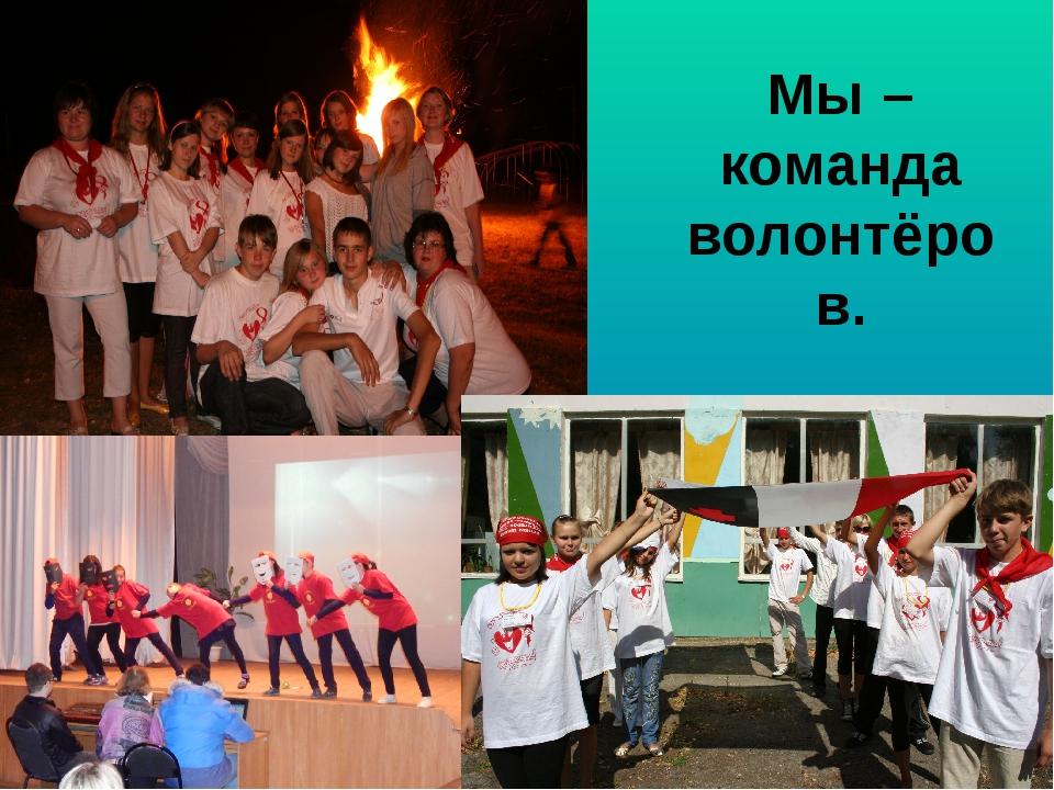 Мы – команда волонтёров.