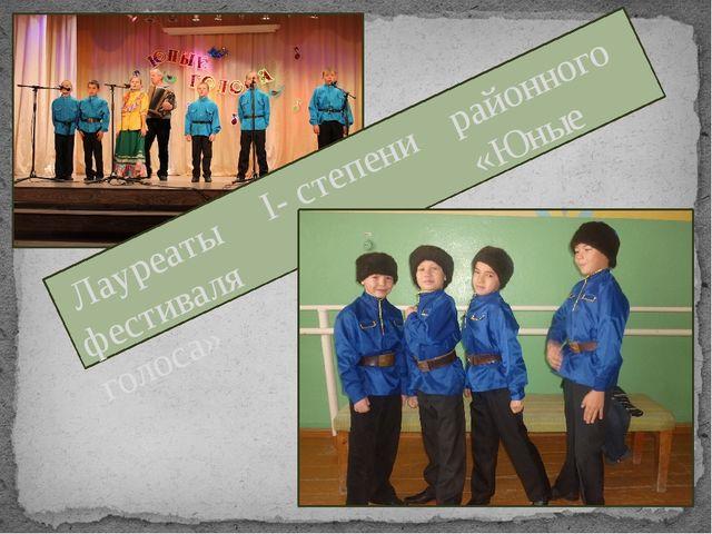 Лауреаты I- степени районного фестиваля «Юные голоса»