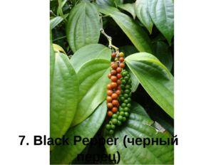 7. Black Pepper (черный перец)