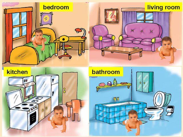 bedroom living room bathroom kitchen