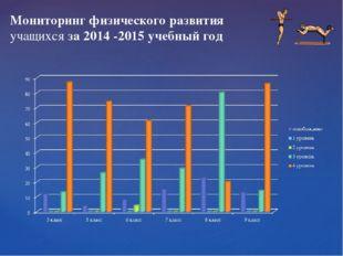 Мониторинг физического развития учащихся за 2014 -2015 учебный год