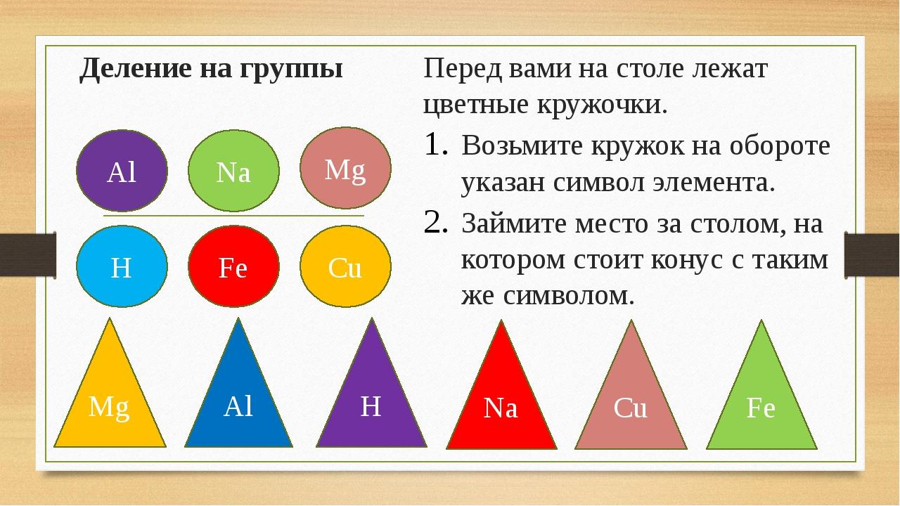 Деление на группы Перед вами на столе лежат цветные кружочки. Возьмите кружок...