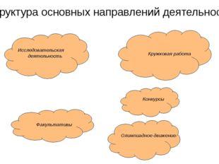 Исследовательская деятельность Факультативы Олимпиадное движение Кружковая р