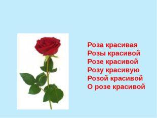 Роза красивая Розы красивой Розе красивой Розу красивую Розой красивой О розе