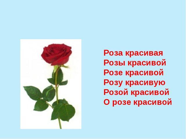 Роза красивая Розы красивой Розе красивой Розу красивую Розой красивой О розе...