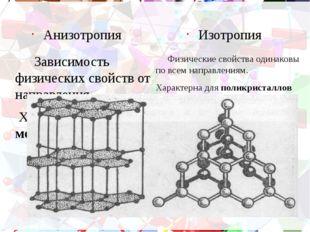 Домашнее задание Привести примеры полиморфизмов. Какие тела (аморфные или кри