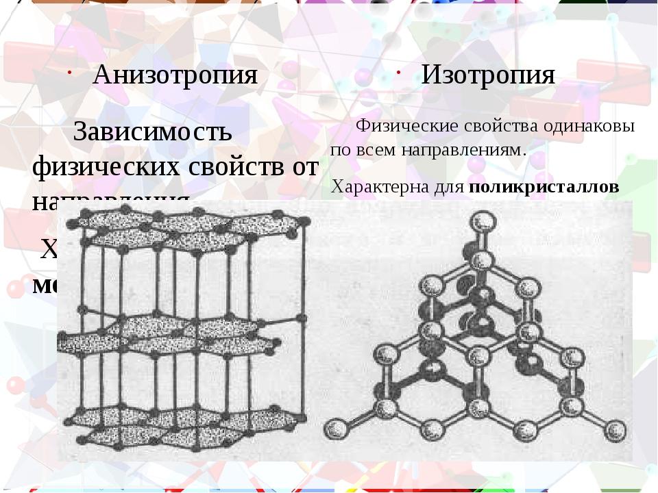 Домашнее задание Привести примеры полиморфизмов. Какие тела (аморфные или кри...