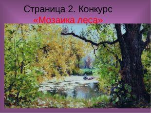 Страница 2. Конкурс «Мозаика леса»