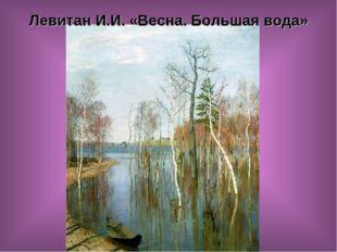 Левитан И.И.«Весна. Большая вода»