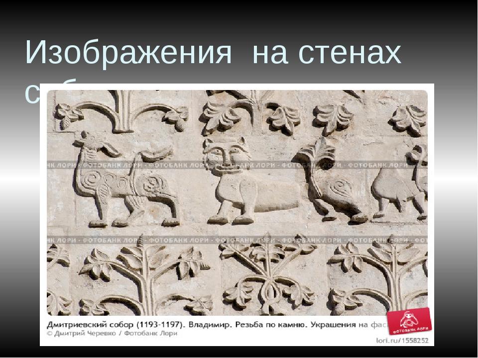 Изображения на стенах собора
