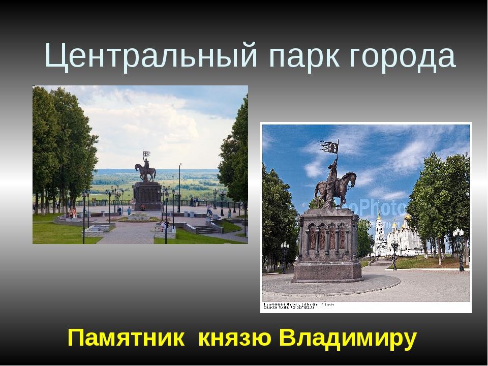Центральный парк города Памятник князю Владимиру