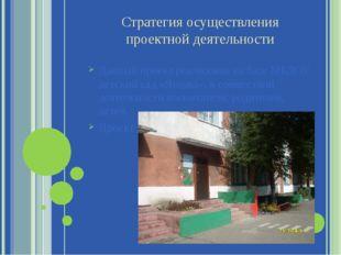 Стратегия осуществления проектной деятельности Данный проект реализован на ба