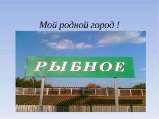 Мой родной город !