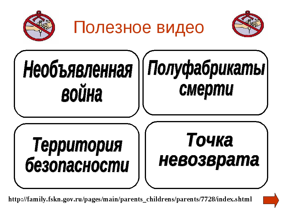 Полезное видео http://family.fskn.gov.ru/pages/main/parents_childrens/parents...