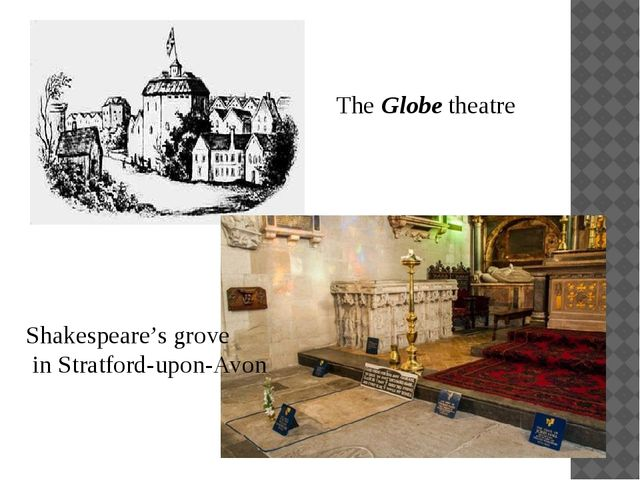 The Globe theatre Shakespeare's grove in Stratford-upon-Avon