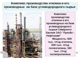 Комплекс производства этилена и его производных на базе углеводородного сырья