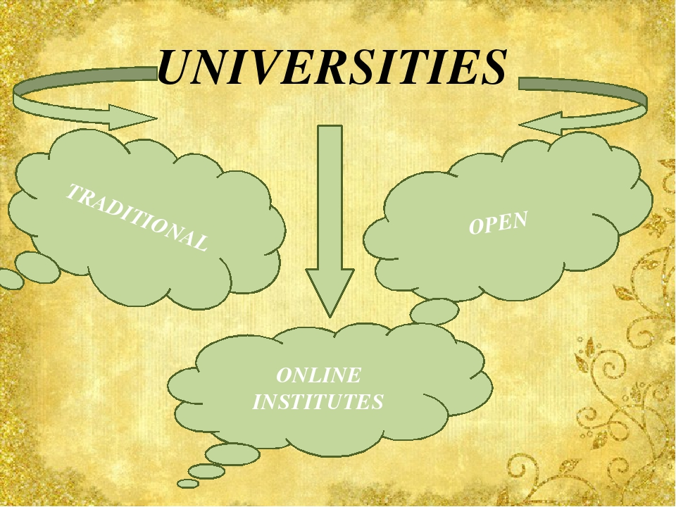 UNIVERSITIES TRADITIONAL OPEN ONLINE INSTITUTES