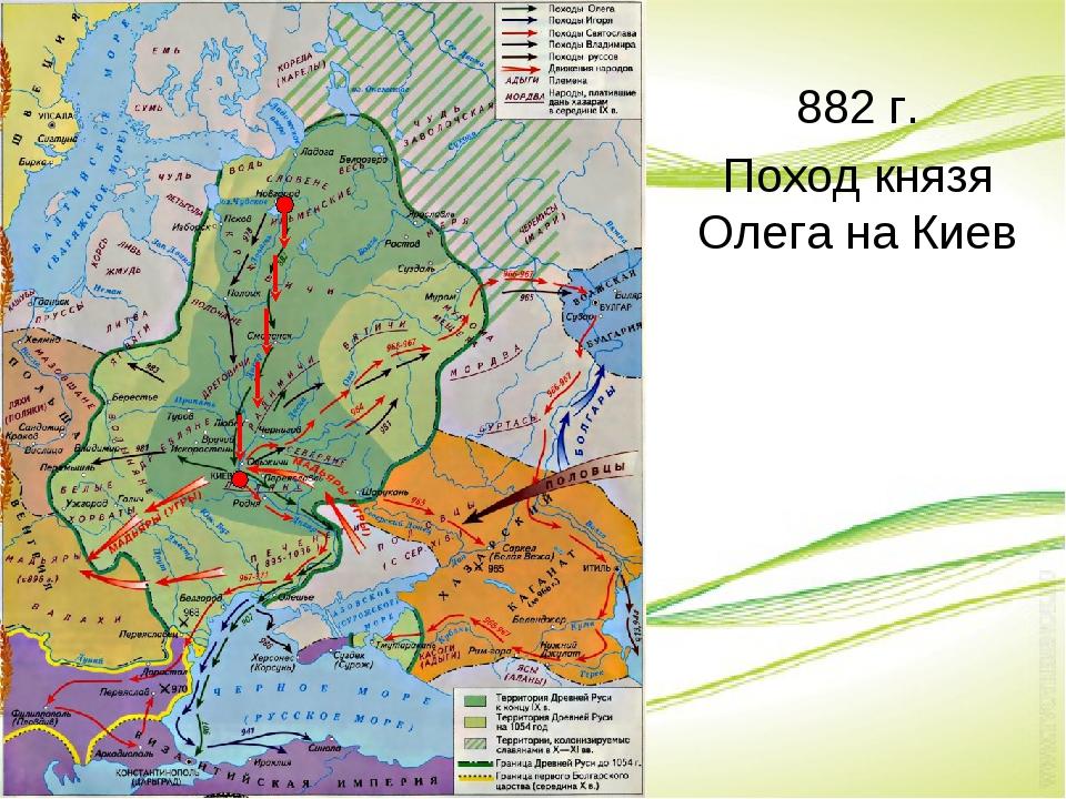 882 г. Поход князя Олега на Киев