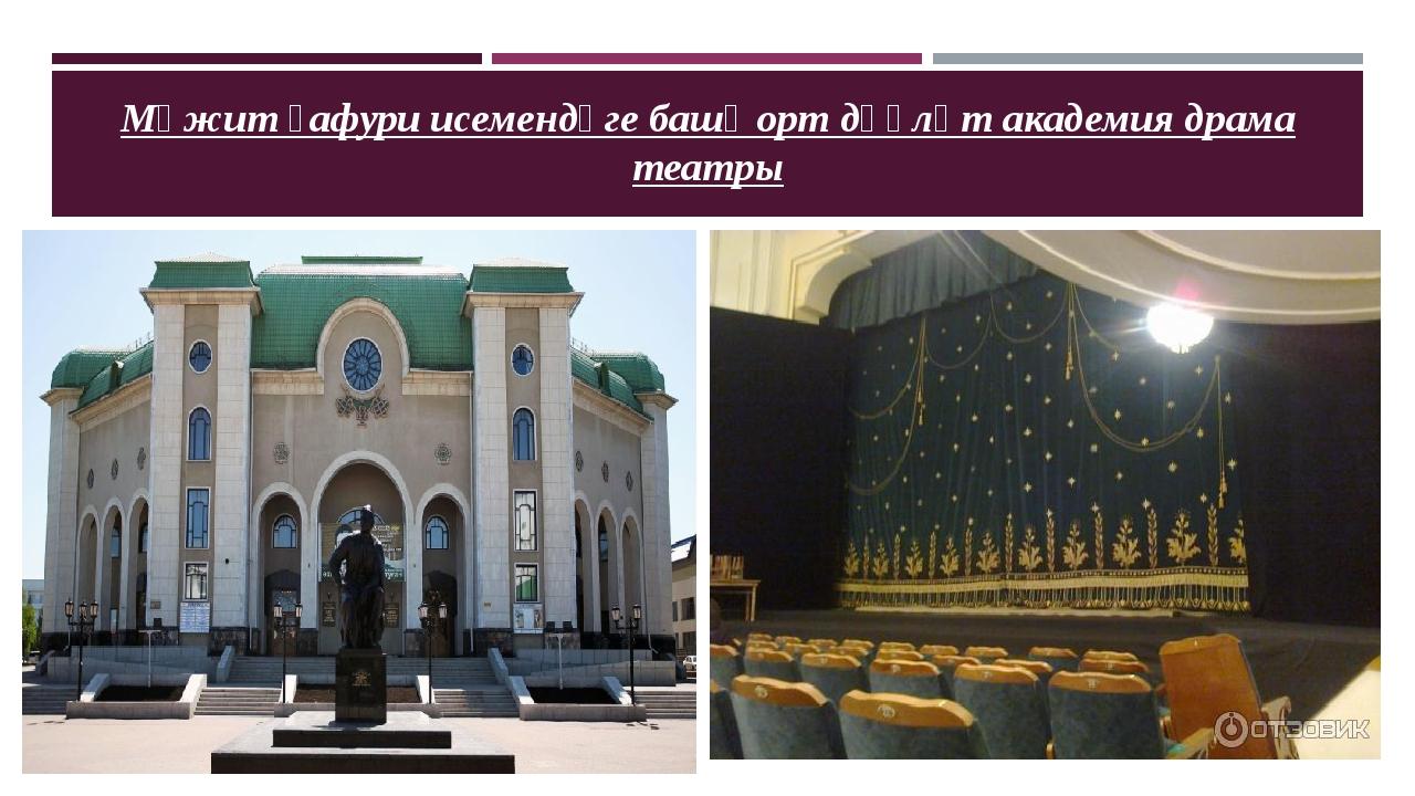 Мәжит ғафури исемендәге башҡорт дәүләт академия драма театры