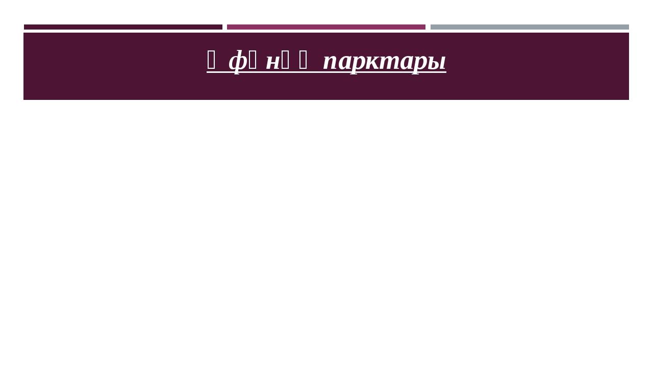 Өфөнөң парктары