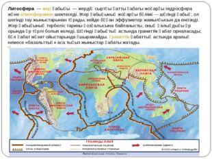 Литосфера—жерқабығы — жердің сыртқы қатты қабаты жоғарғы гидросфера және