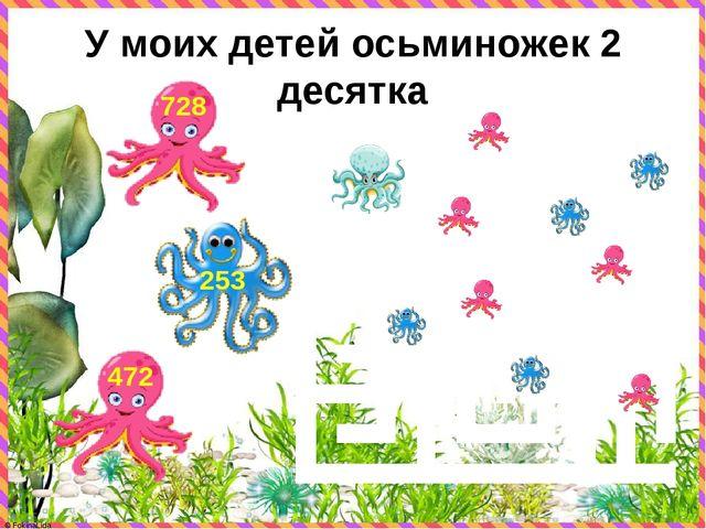 У моих детей осьминожек 2 десятка 472 253 728 © FokinaLida