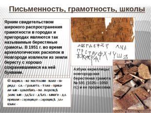 Письменность, грамотность, школы Азбука кириллицы: новгородская берестяная гр