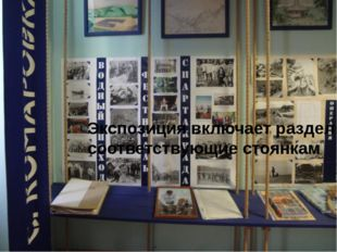 Экспозиция включает разделы соответствующие стоянкам