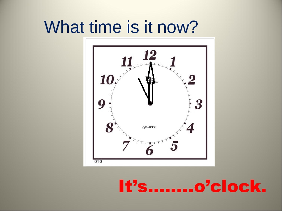 What time is it now?